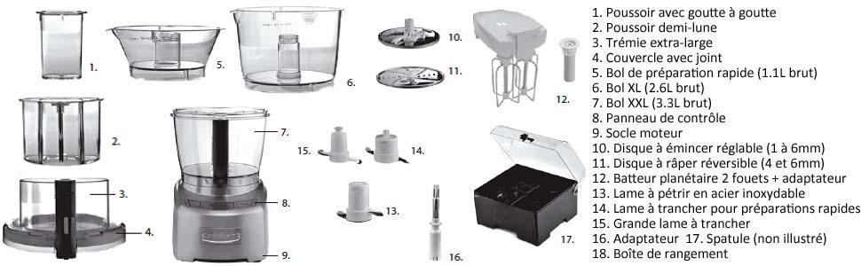 robots multifonctions multifonction cuisinart pétrir