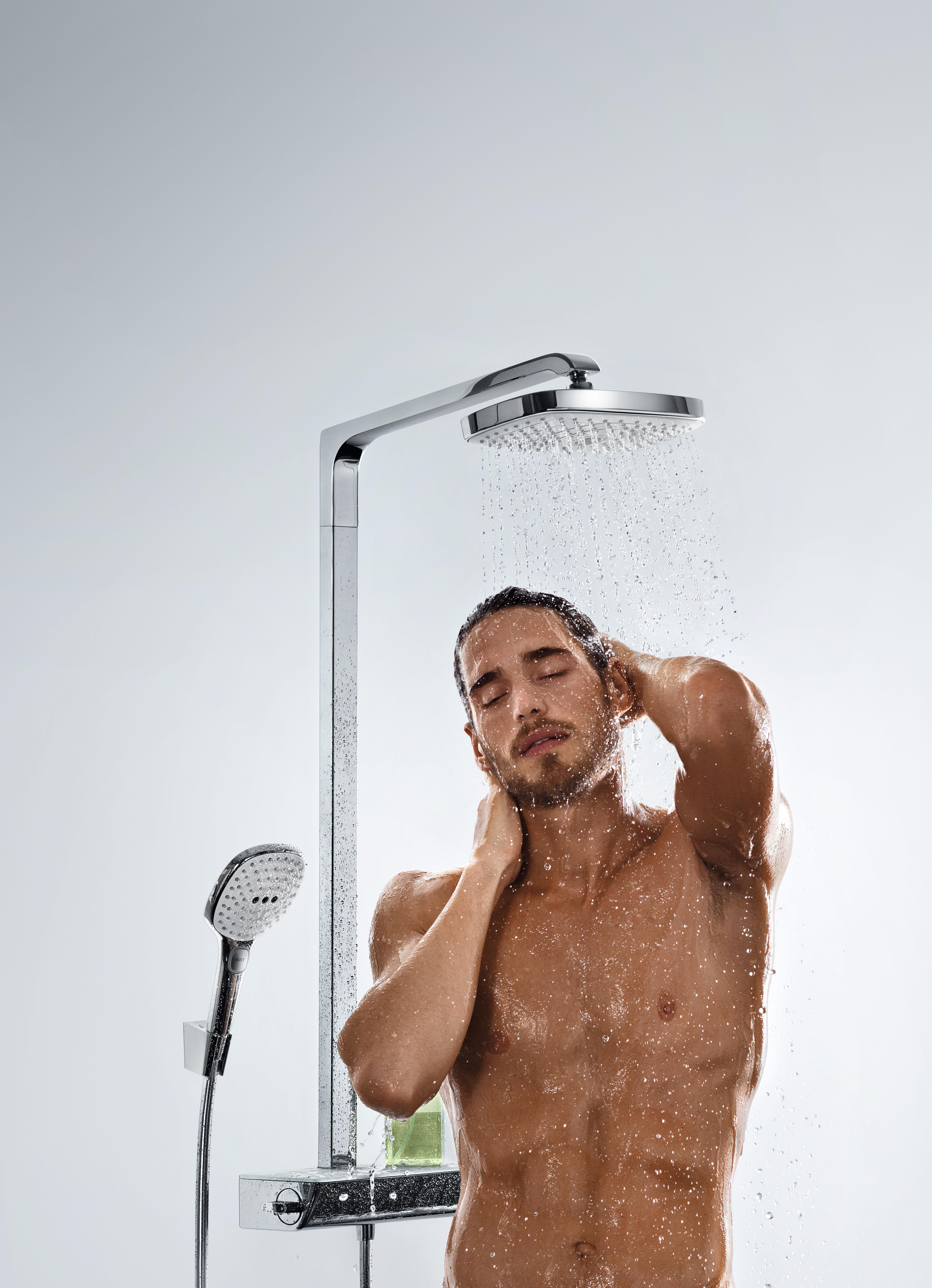 hansgrohe colonne de douche showerpipe avec douchette raindance select e 300 3jets et douche de. Black Bedroom Furniture Sets. Home Design Ideas
