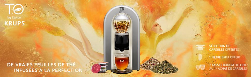 thé spécial thé théière eau chaude température lipton krups T.O TO machine à thé