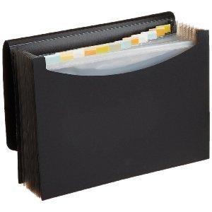 amazonbasics porte documents type trieur soufflets format lettre a4 noir. Black Bedroom Furniture Sets. Home Design Ideas