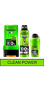 men expert déodorant bille spray anti odeur anti transpirant clean power aisselles entretenues