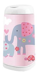 Jupe Elephant Rose pour la poubelle à Couches Dress-Up