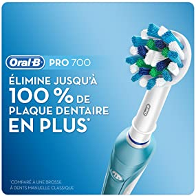 Oral B Pro 700 Crossaction Brosse à Dents Electrique Rechargeable