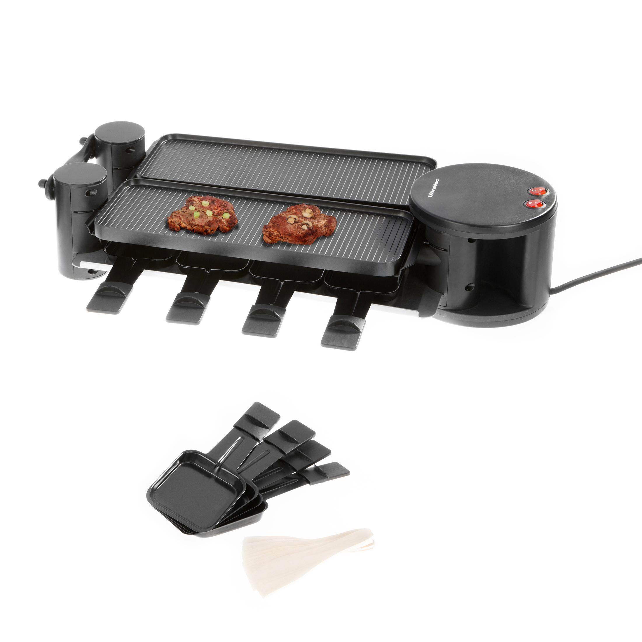 ultratec cuisine 331400000127 rg1200 raclette gril articul duo 4 four raclette pour 8. Black Bedroom Furniture Sets. Home Design Ideas