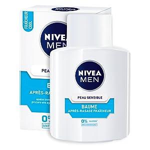 baume après-rasage peau sensible fraîcheur nivea men