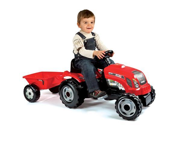 Smoby 033045 v lo et v hicule pour enfant tracteur grand mod le remorque - Tracteur remorque enfant ...