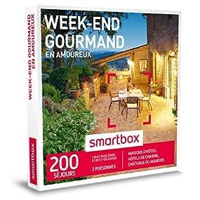 smartbox coffret cadeau week end gourmand en amoureux 200 s jours maisons d 39 h tes. Black Bedroom Furniture Sets. Home Design Ideas