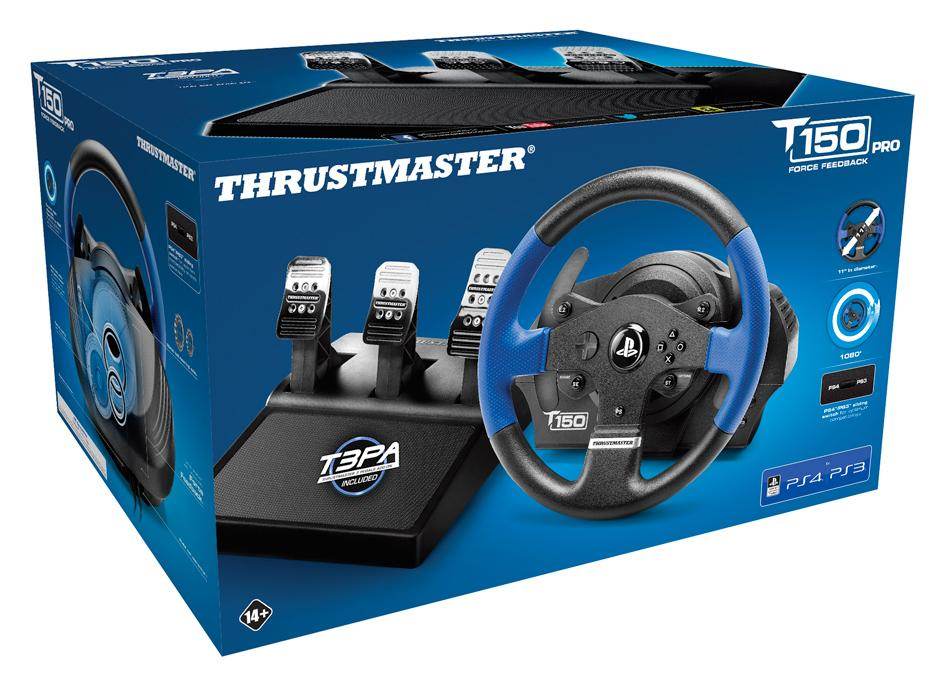 thrustmaster t150 pro force feedback volant de course pro pour ps4 ps3 compatible pc avec. Black Bedroom Furniture Sets. Home Design Ideas