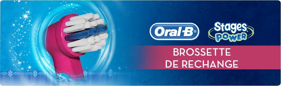 ORAL B Stages Power Pack de 2 Brossettes de Rechange Motif Reine des Neiges