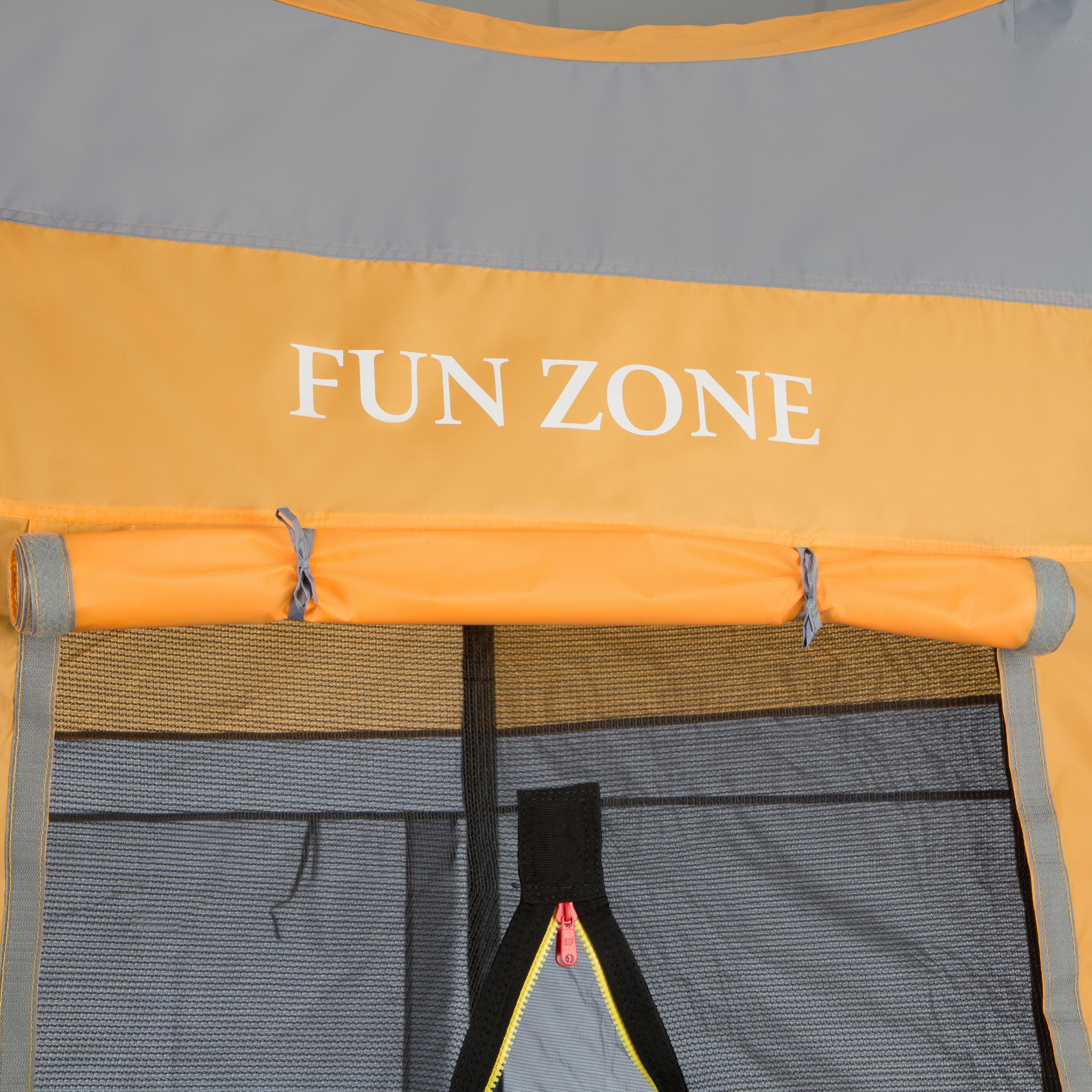 ultrasport f r 430 cm trampoline tente mixte orange gris. Black Bedroom Furniture Sets. Home Design Ideas