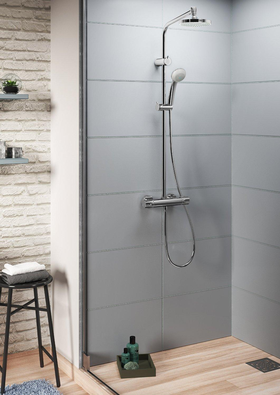 hansgrohe colonne de douche showerpipe marin 160 chrome 27206000 bricolage. Black Bedroom Furniture Sets. Home Design Ideas