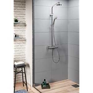 Hansgrohe colonne de douche showerpipe marin 160 chrome - Reglage mitigeur thermostatique douche ...