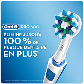 oral b pro 600 cross action brosse dents lectrique rechargeable edition blanche braun. Black Bedroom Furniture Sets. Home Design Ideas
