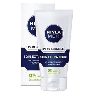 soin extra doux peau sensible nivea men