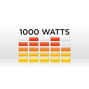 Puissance de crête de 1 000 watts
