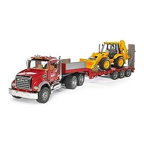 camion chantier travaux tractopelle bulldozer