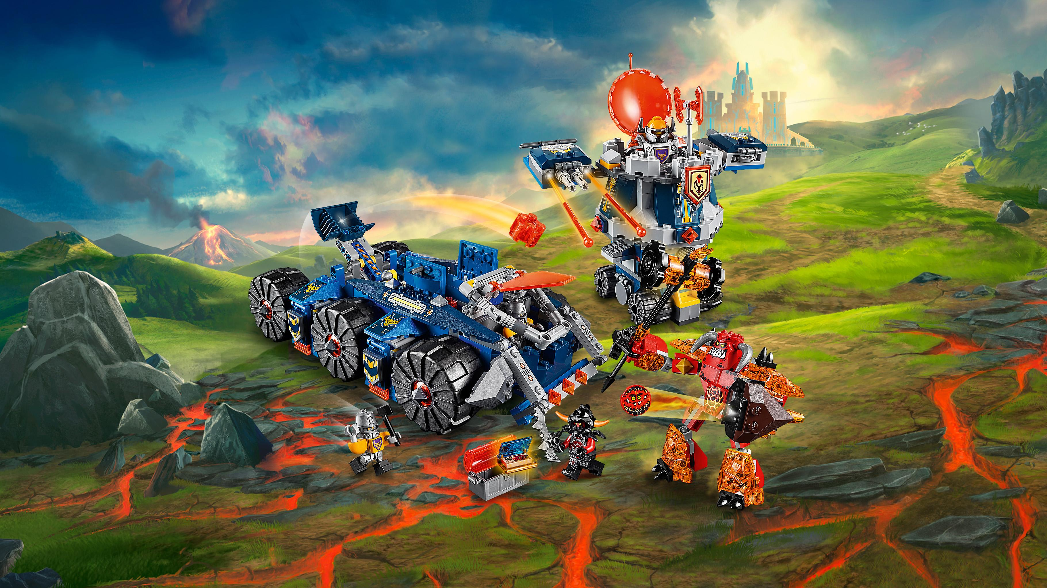 lego 70322 nexo knights jeu de construction le transporteur de tour d 39 axl. Black Bedroom Furniture Sets. Home Design Ideas