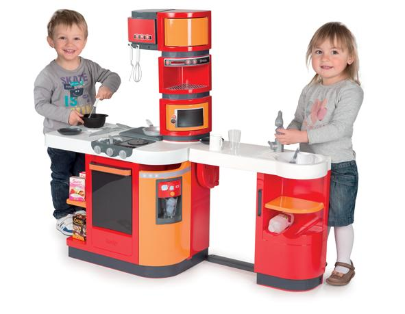 smoby 24250 jeu d 39 imitation cuisine cook master rouge orange jeux et jouets. Black Bedroom Furniture Sets. Home Design Ideas