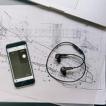 App, Casque audio sans fil Bluetooth, Bluetooth sans fil écouteurs intra- auriculaires