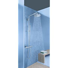 Systèmes de douche Douche de tête, douchette à main, mitigeur thermostatique, barre de douche