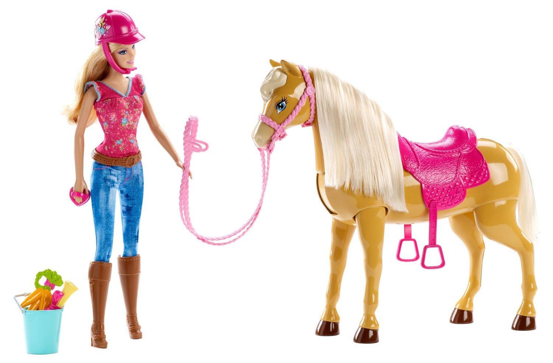 barbie bjx85 poup e barbie et son cheval tawny jeux et jouets. Black Bedroom Furniture Sets. Home Design Ideas