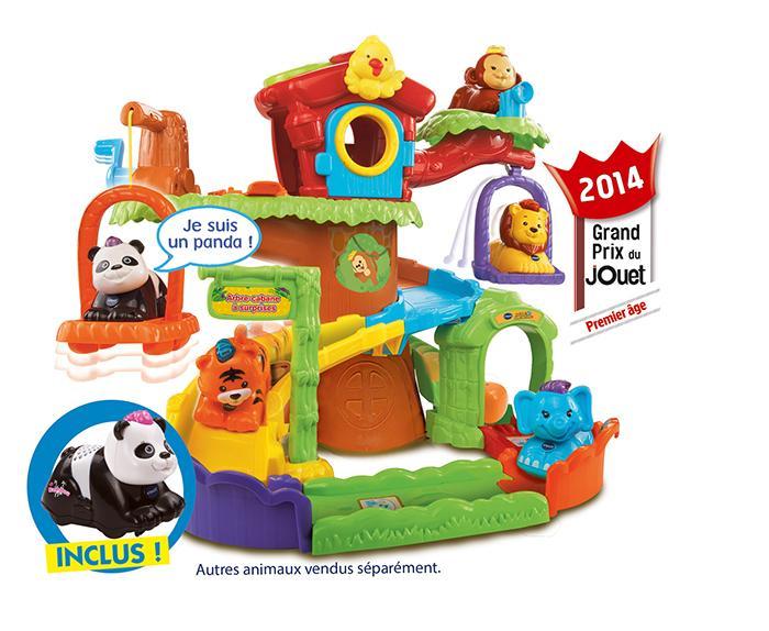 Vtech 157105 jouet de premier age tut tut animo for Arbre maison jouet