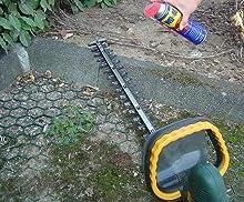 résine, nettoyer, taille haies, lubrifier, entretien outil jardin, outil de coupe,