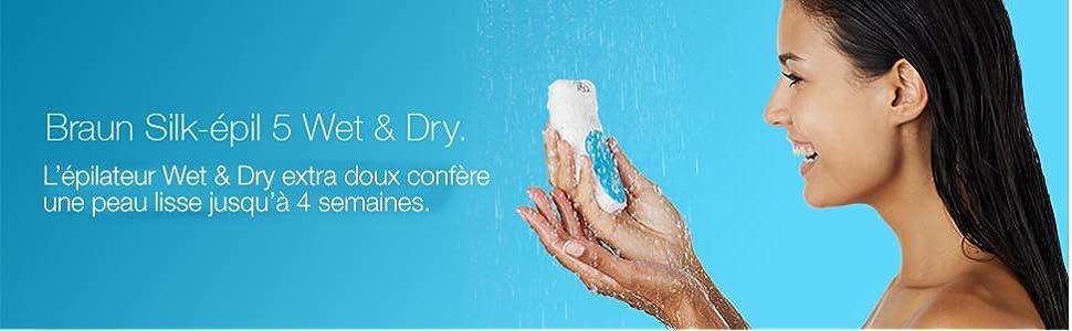 Braun Silk-épil 5 5-531 Technologie Wet & Dry Épilateur sans Fil