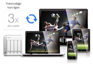 Transcodage hors-ligne, Regarder vidéos sans lags intempestifs, NAS Multimédia