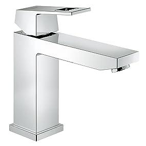 """""""Robinetterie de salle de bains Mitigeur monocommande, lavabo, bec medium haut, corps lisse"""""""