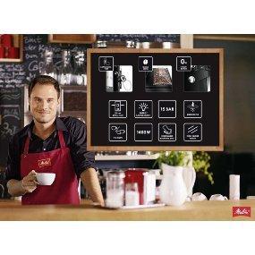 melitta machine caf automatique auto cappuccinatore caffeo solo perfect milk noir noir. Black Bedroom Furniture Sets. Home Design Ideas