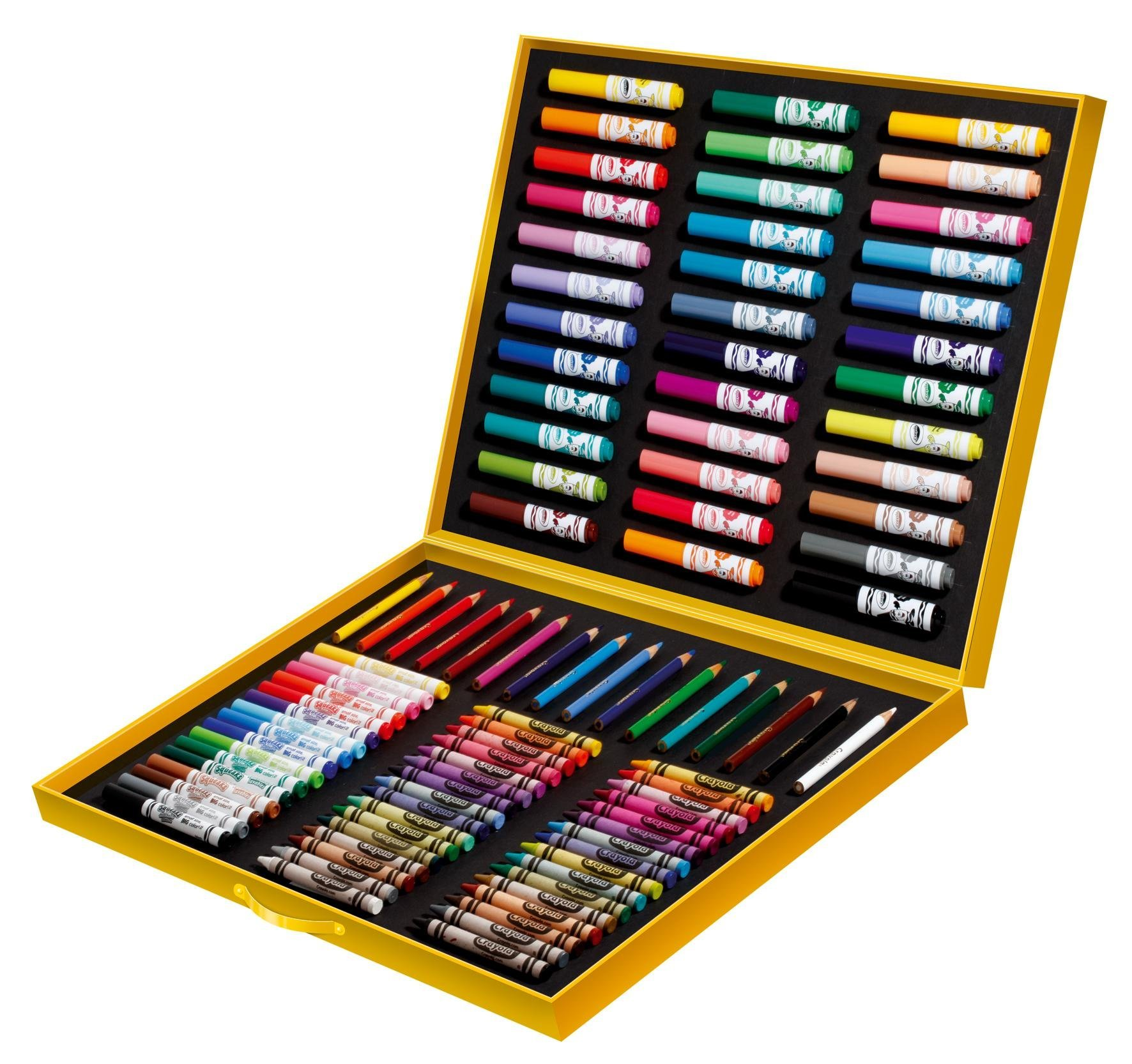 crayola 10651 crayons de couleurs et feutres mallette de coloriage de l 39 artiste. Black Bedroom Furniture Sets. Home Design Ideas