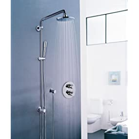 grohe colonne de douche avec inverseur manuel rainshower 210 27058000 import allemagne amazon. Black Bedroom Furniture Sets. Home Design Ideas