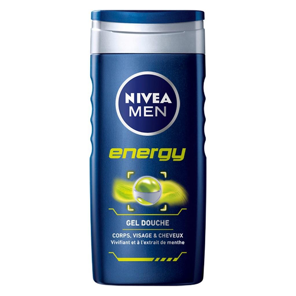 Très Nivea Men Gel Douche Energy 3en1 6 unites (3 x 2 Produits  TE94