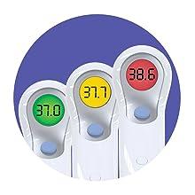NTF3000 Braun thermomètre sans contact frontal température Ecran LCD Code couleur