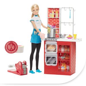 avec ce coffret de jeu barbie cuisine et spaghetti prpare un festin de ptes - Barbie Cuisine