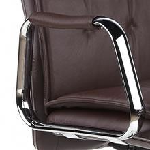 chaise hjh de direction VILLA 10 de OFFICE600934Chaise brunaccoudoirs bureau chromés cuir XkZuOTiP