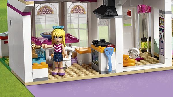 lego friends la maison de st phanie 41314 jeu de construction jeux et jouets. Black Bedroom Furniture Sets. Home Design Ideas