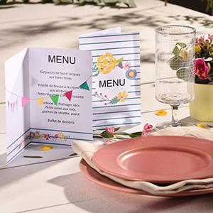 menu, menu imprimable, menus de fete, menu à imprimer