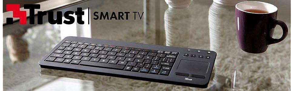 trust smarttv sento clavier sans fil azerty pour. Black Bedroom Furniture Sets. Home Design Ideas