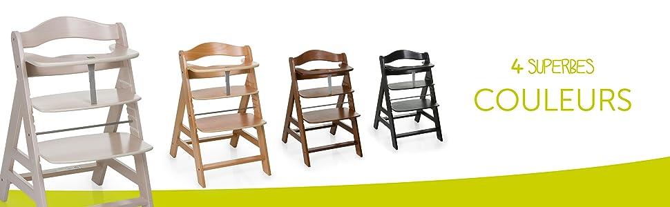 hauck chaise haute alpha grandit avec l 39 enfant r glable en hauteur utilisable partir. Black Bedroom Furniture Sets. Home Design Ideas
