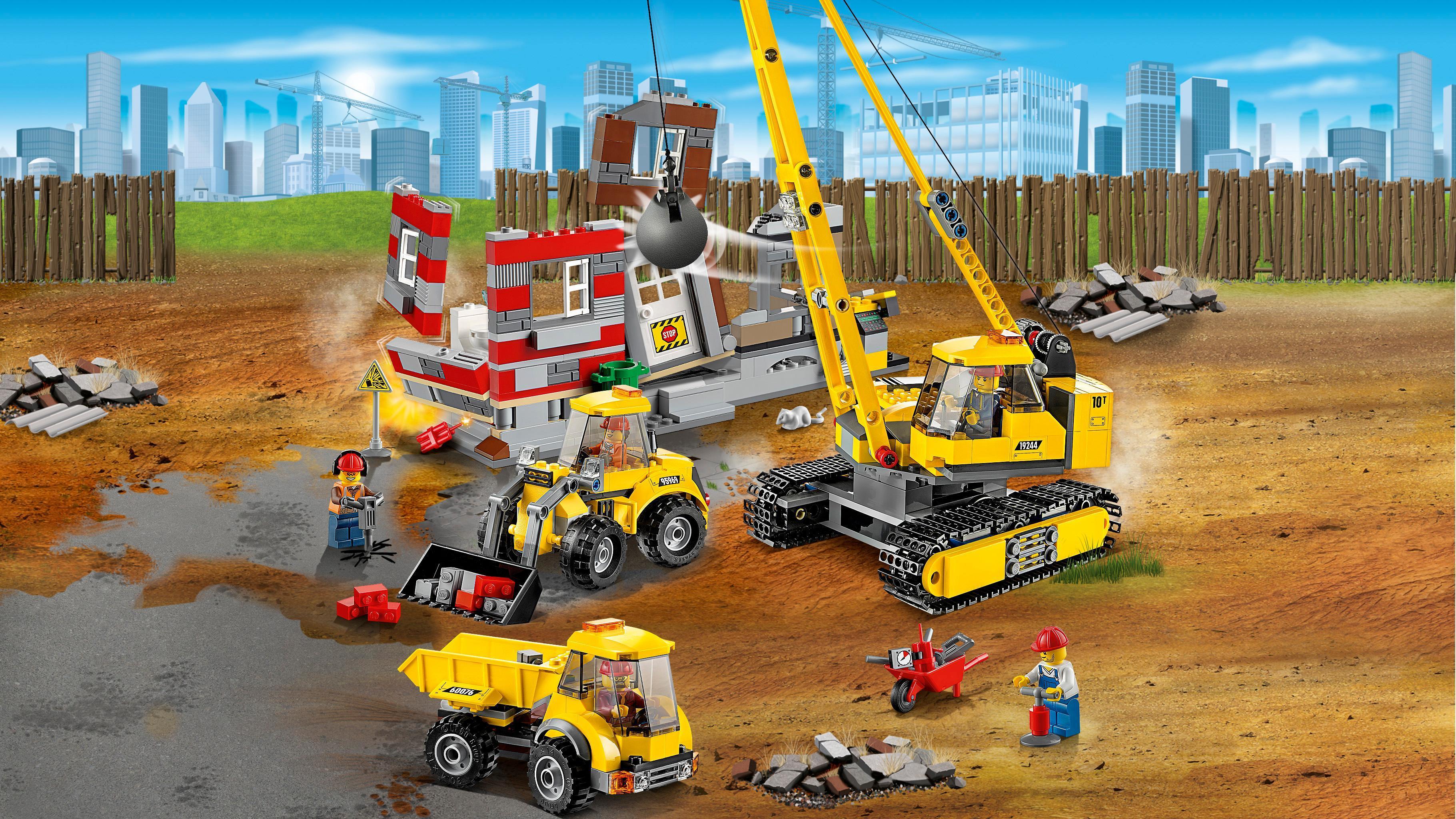 lego city 60076 jeu de construction le chantier de. Black Bedroom Furniture Sets. Home Design Ideas