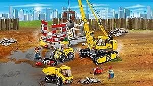 Lego city 60076 jeu de construction le chantier de d molition amazon f - Jeux de grue de chantier ...