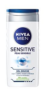 gel douche 3en1 sensitive nivea men