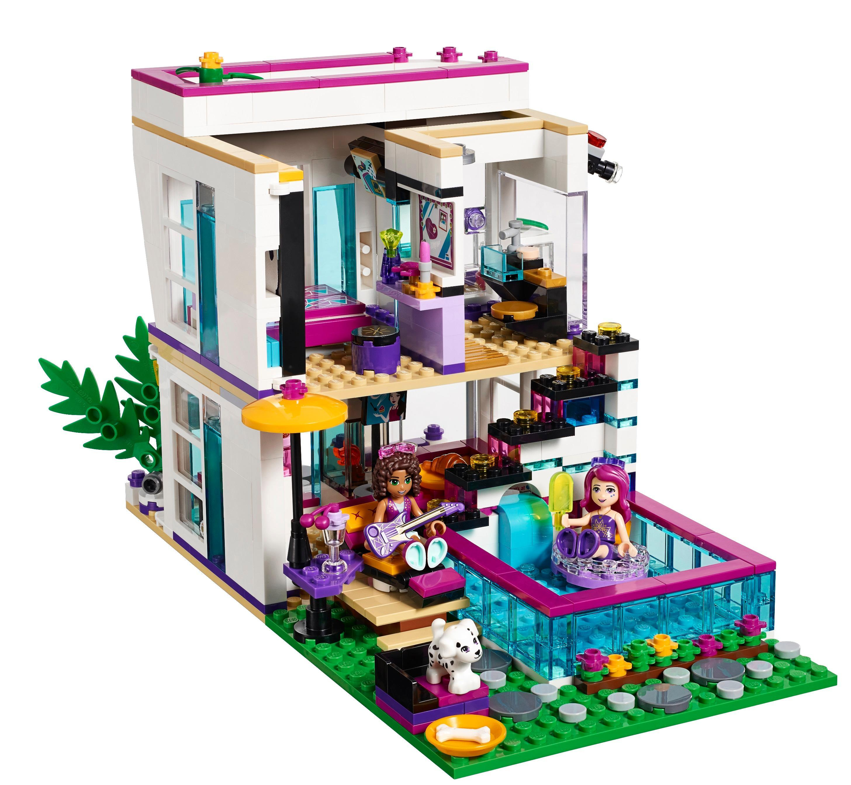 lego friends 41135 la maison de la pop star livi jeux et jouets. Black Bedroom Furniture Sets. Home Design Ideas
