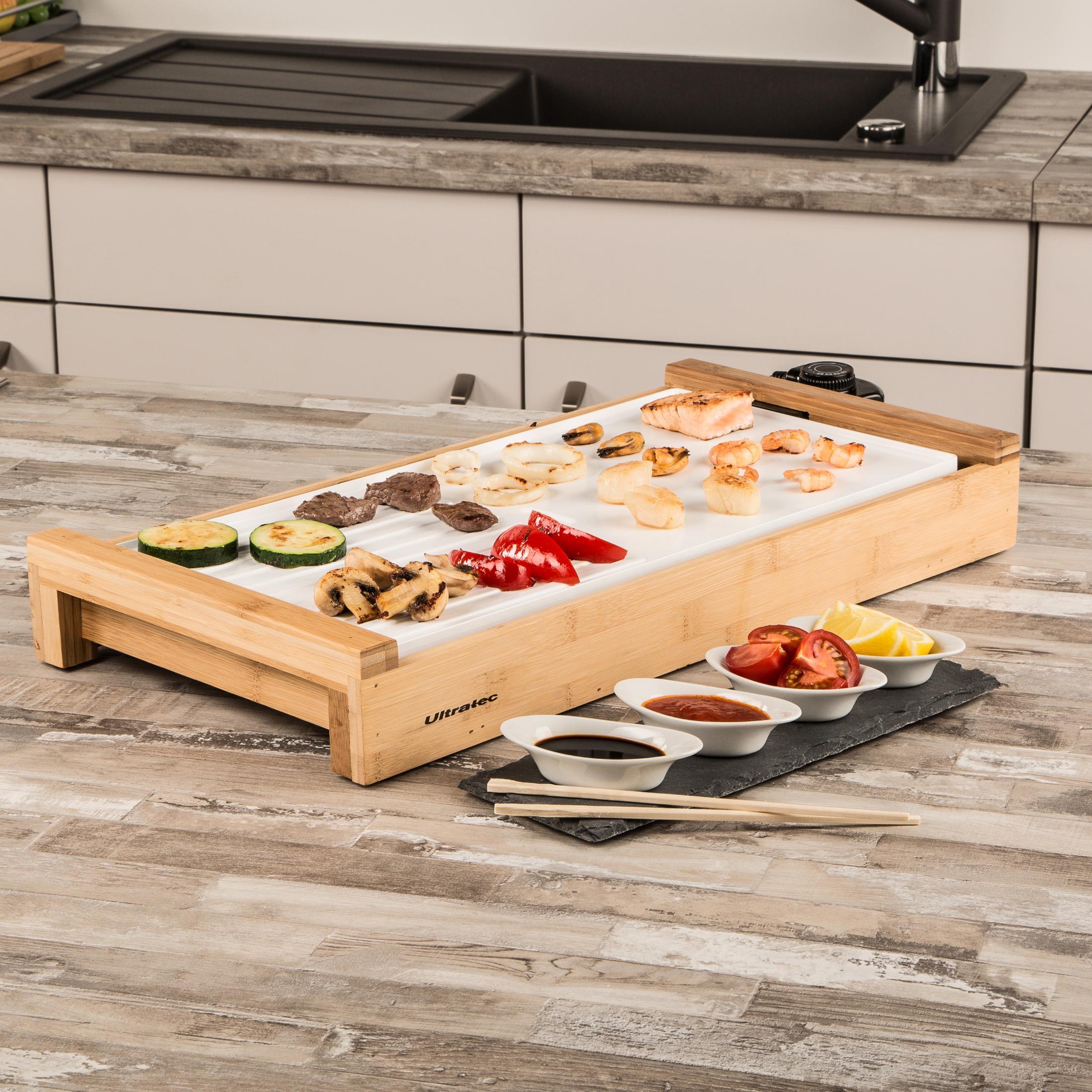 ultratec plaque teppanyaki barbecue de table en c ramique. Black Bedroom Furniture Sets. Home Design Ideas