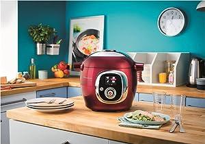 moulinex ce701500 intelligent cookeo multicuiseur avec 100 recettes rouge cuisine. Black Bedroom Furniture Sets. Home Design Ideas