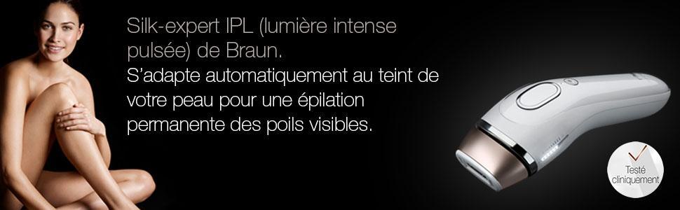 BRAUN épilateur Silk-expert IPL (lumière intense pulsée) BD 5009 - épilation permanente des poils