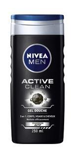 gel douche 3en1 nivea men active clean