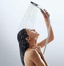 douchette, pommeau de douche, poire de douche, tuyau de douche, ciel de douche, tuyau de douche